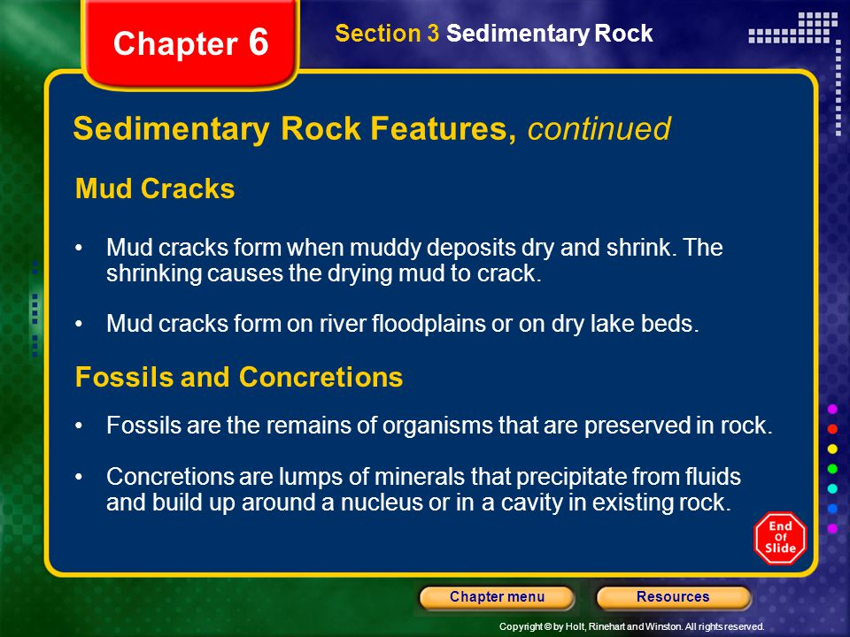 Sedimentary Rock Features, continued