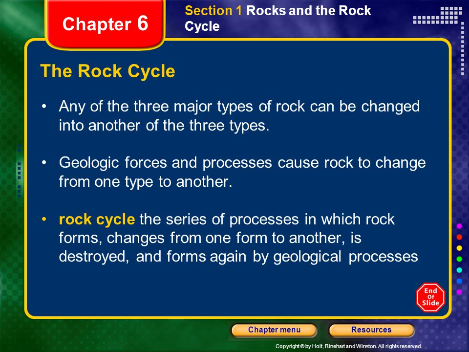 Section 1 Rocks and the Rock Cycle
