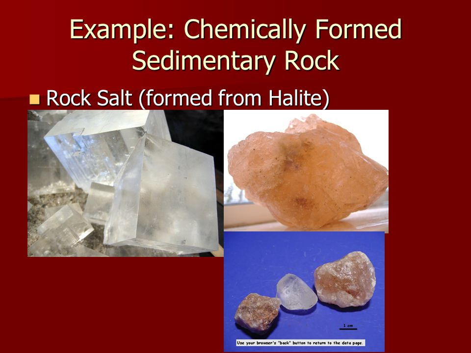 Example: Chemically Formed Sedimentary Rock