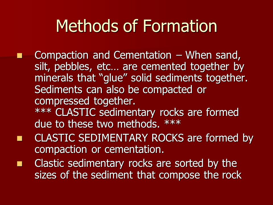 Methods of Formation
