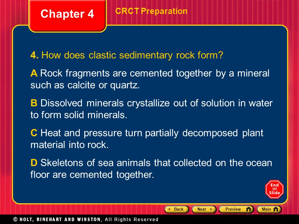 Chapter 4 Rocks: Mineral Mixtures Preview CRCT Preparation. - ppt ...
