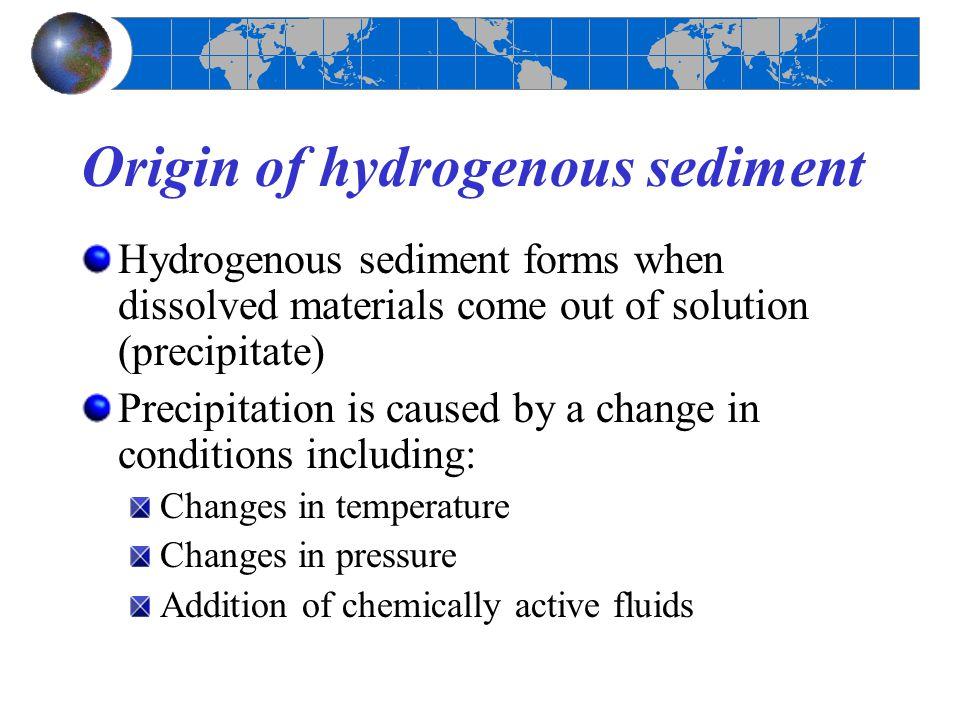 Origin of hydrogenous sediment