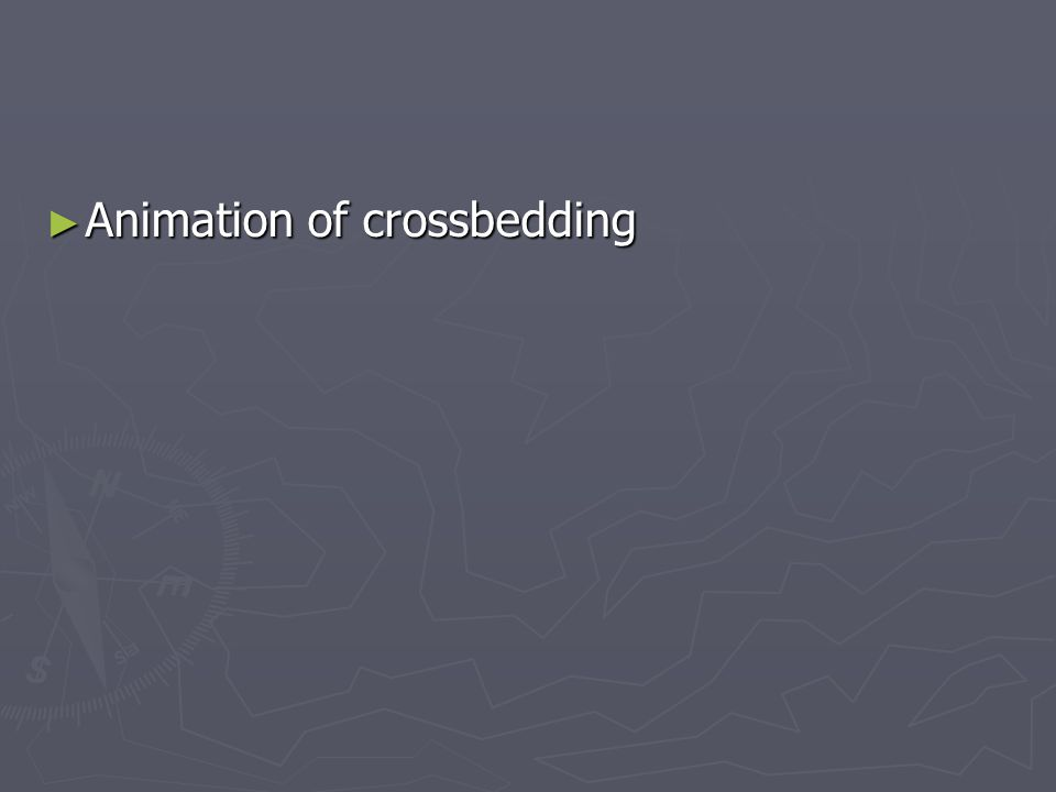 Animation of crossbedding