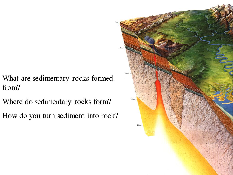 What are sedimentary rocks formed from