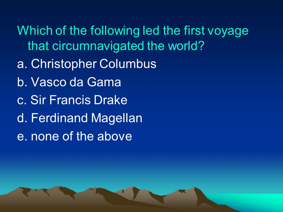Which of the following led the first voyage that circumnavigated the world
