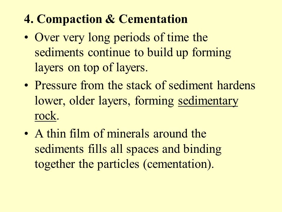4. Compaction & Cementation