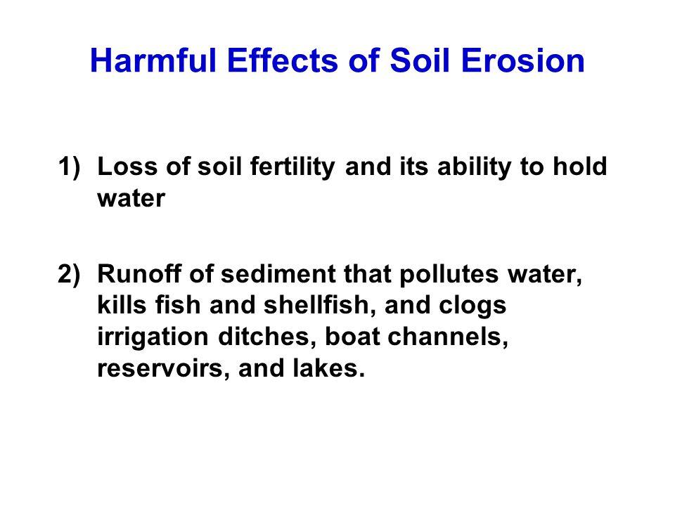 Harmful Effects of Soil Erosion