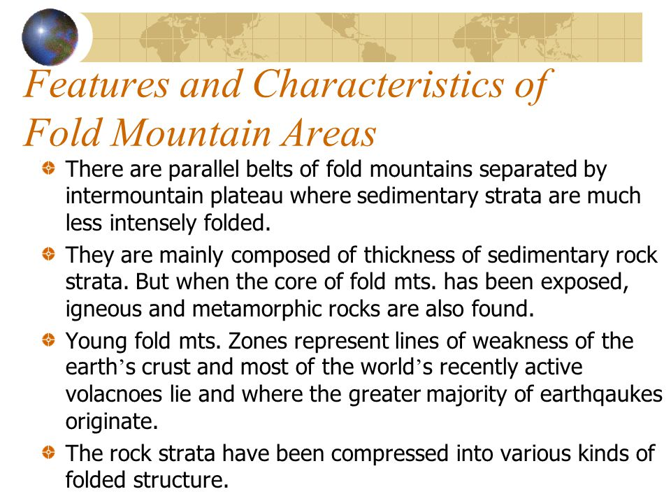 Features and Characteristics of Fold Mountain Areas