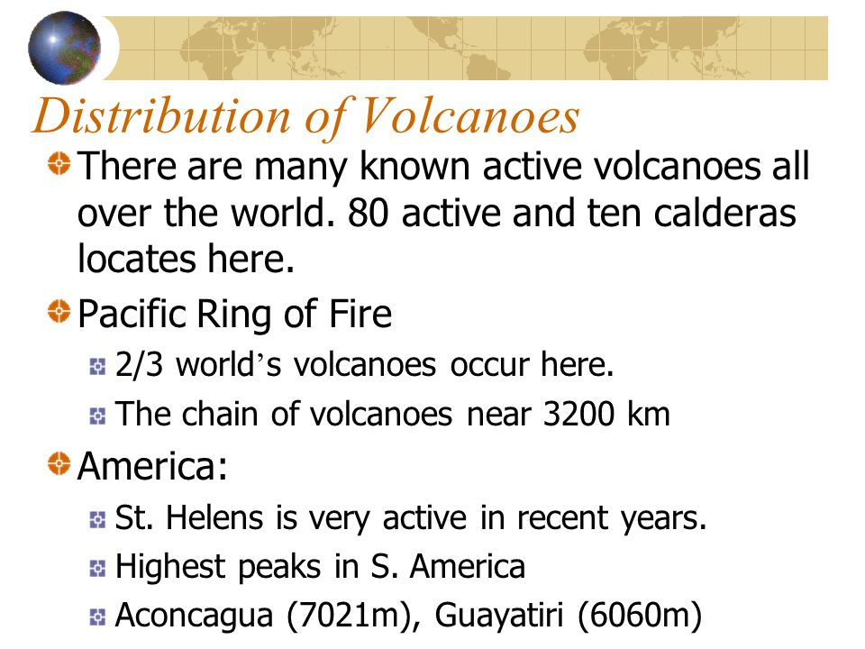 Distribution of Volcanoes
