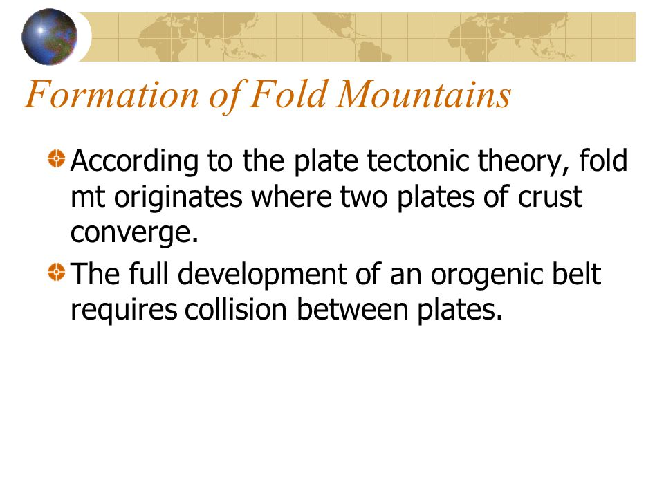 Formation of Fold Mountains