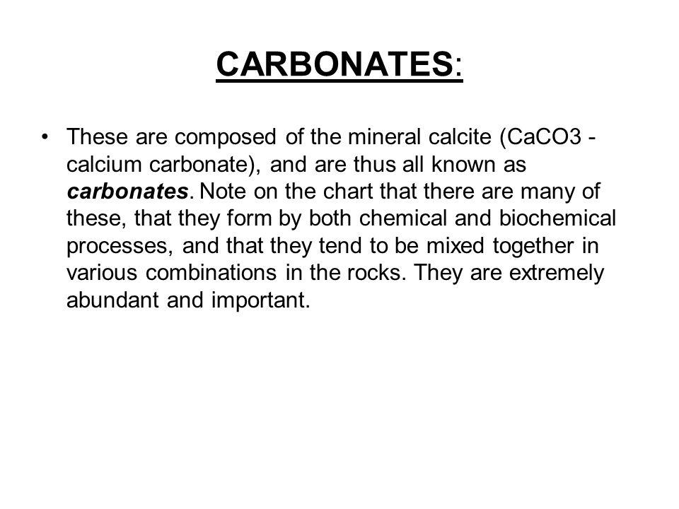 CARBONATES: