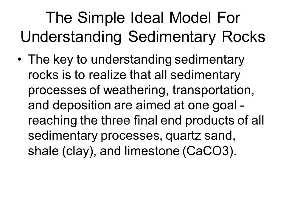 The Simple Ideal Model For Understanding Sedimentary Rocks
