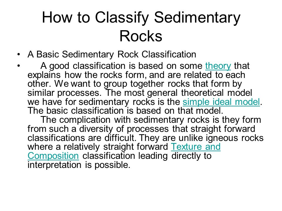 How to Classify Sedimentary Rocks