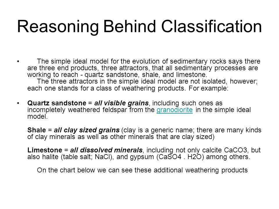 Reasoning Behind Classification