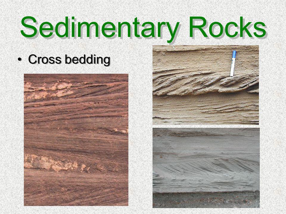 Sedimentary Rocks Cross bedding