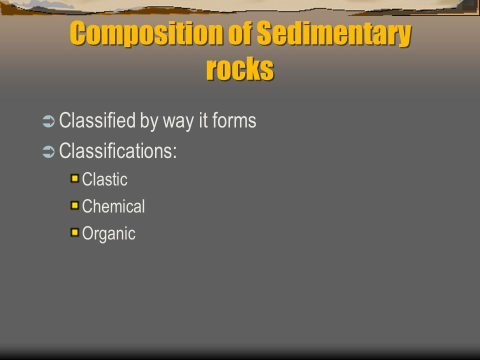 Composition of Sedimentary rocks