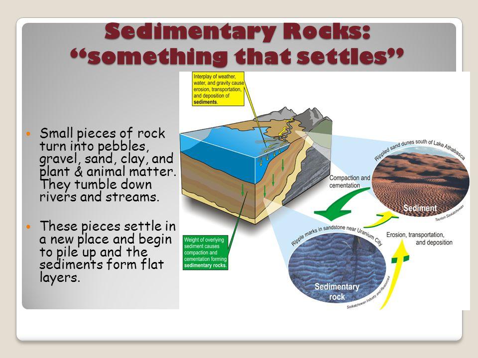 Sedimentary Rocks: something that settles