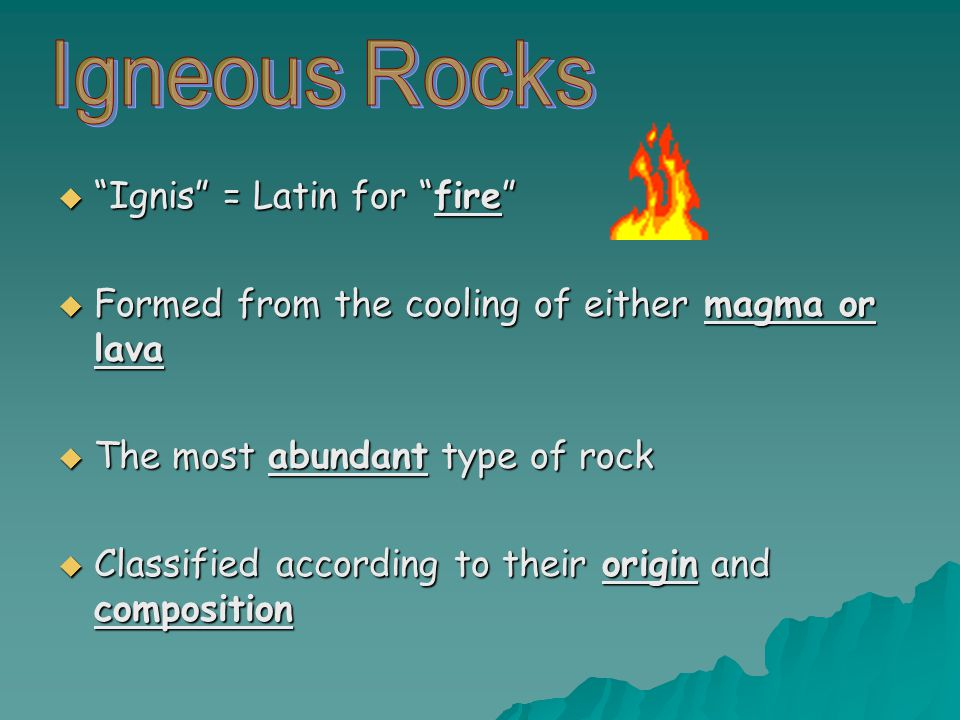 Ignis = Latin for fire