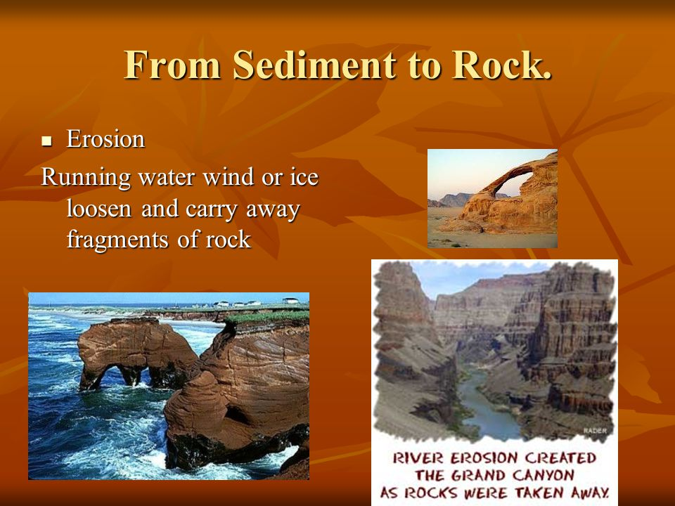 From Sediment to Rock. Erosion