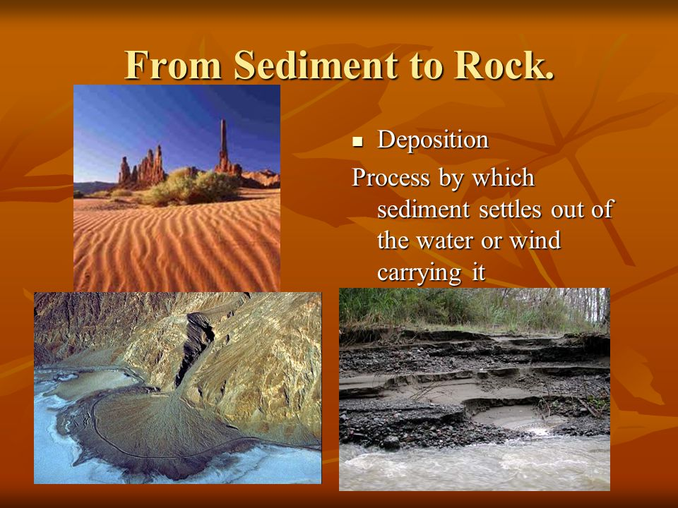 From Sediment to Rock. Deposition