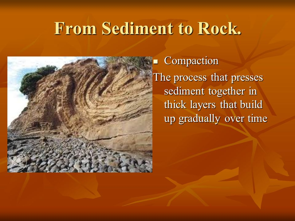 From Sediment to Rock. Compaction
