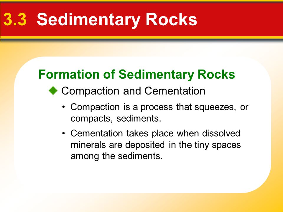 3.3 Sedimentary Rocks Formation of Sedimentary Rocks