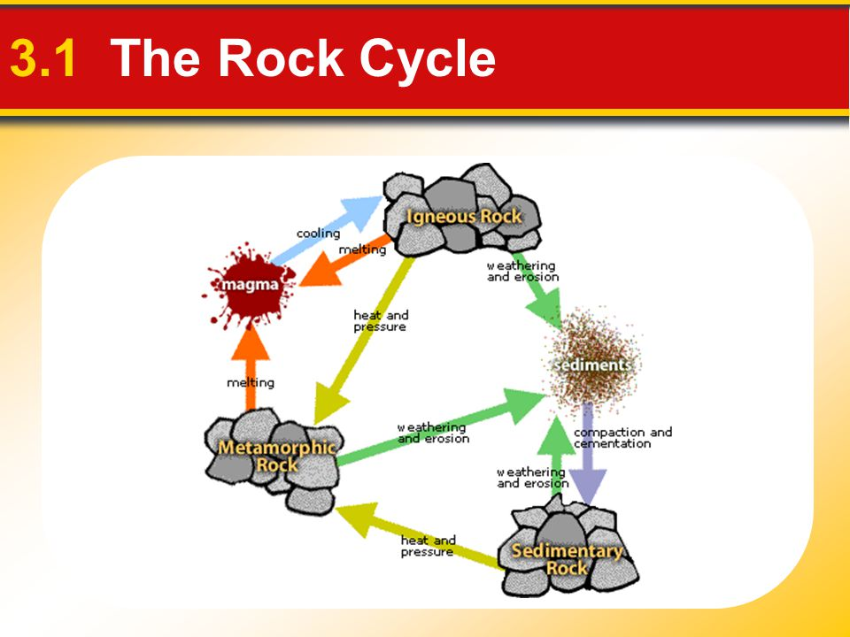 3.1 The Rock Cycle
