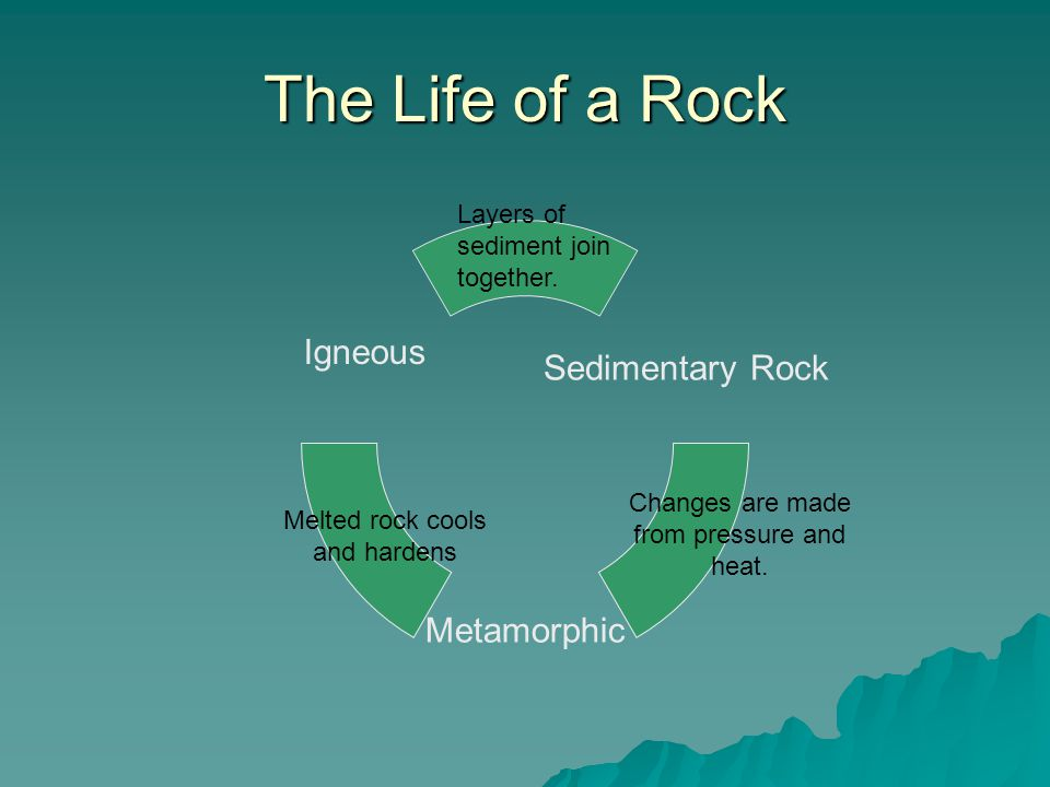 The Life of a Rock Layers of sediment join together.