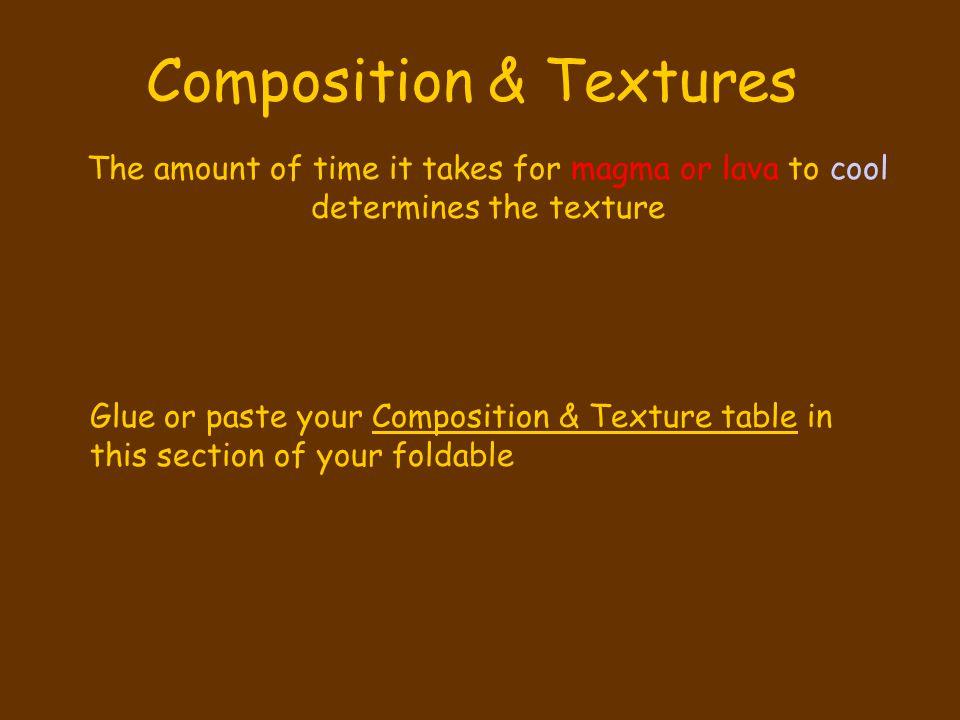 Composition & Textures
