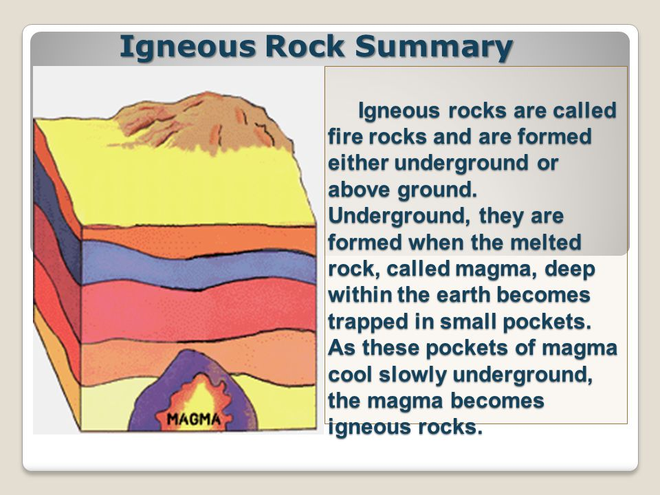 Igneous Rock Summary