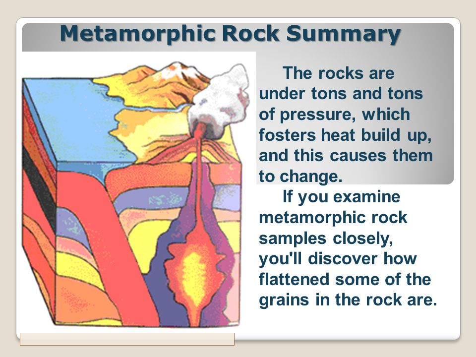 Metamorphic Rock Summary