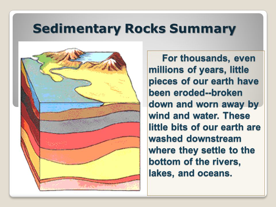 Sedimentary Rocks Summary