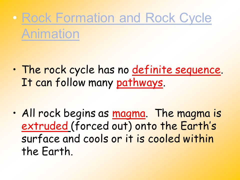 Rock Formation and Rock Cycle Animation