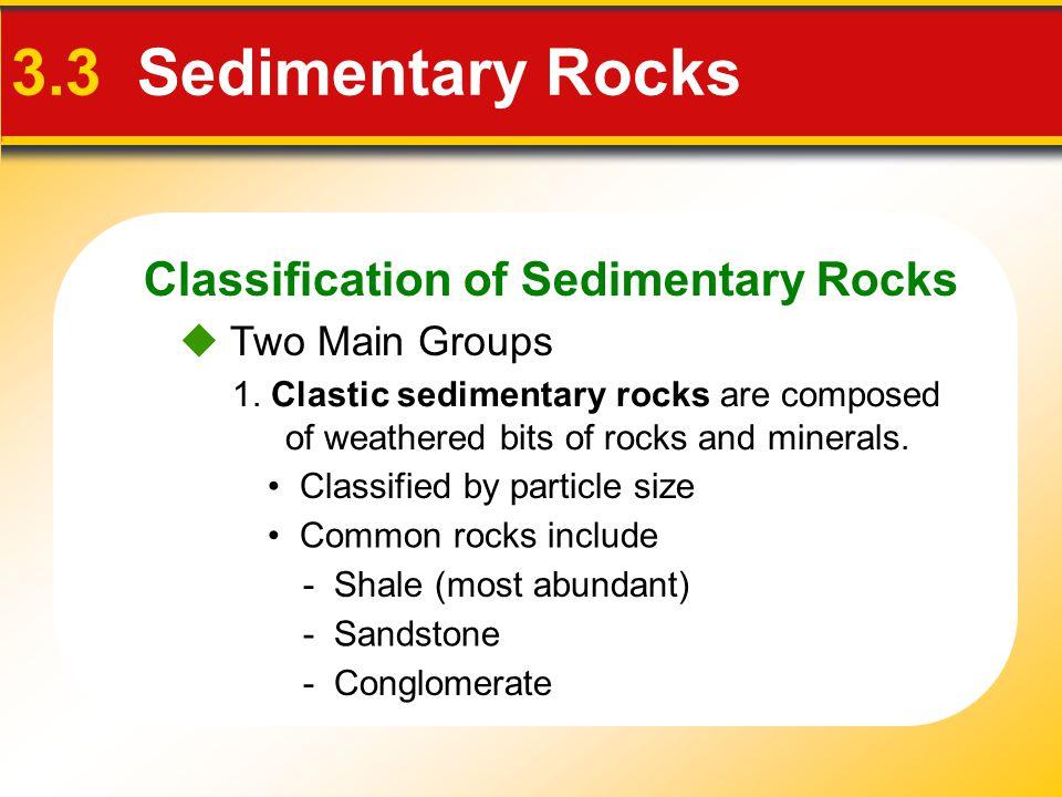 3.3 Sedimentary Rocks Classification of Sedimentary Rocks