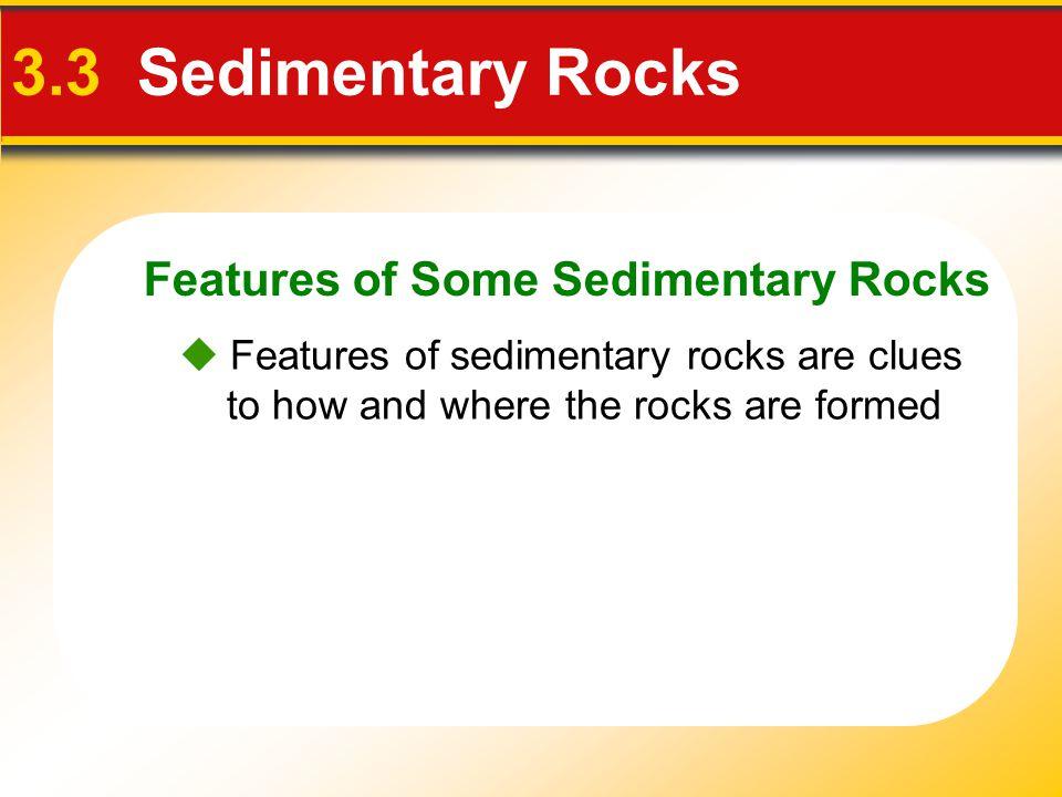 3.3 Sedimentary Rocks Features of Some Sedimentary Rocks