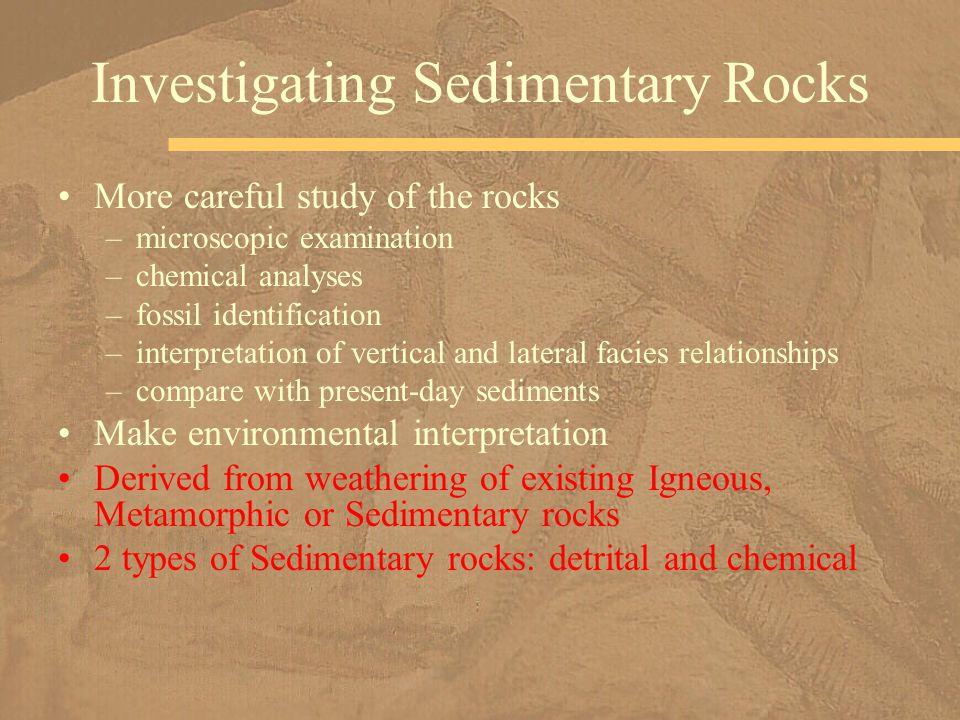 Investigating Sedimentary Rocks