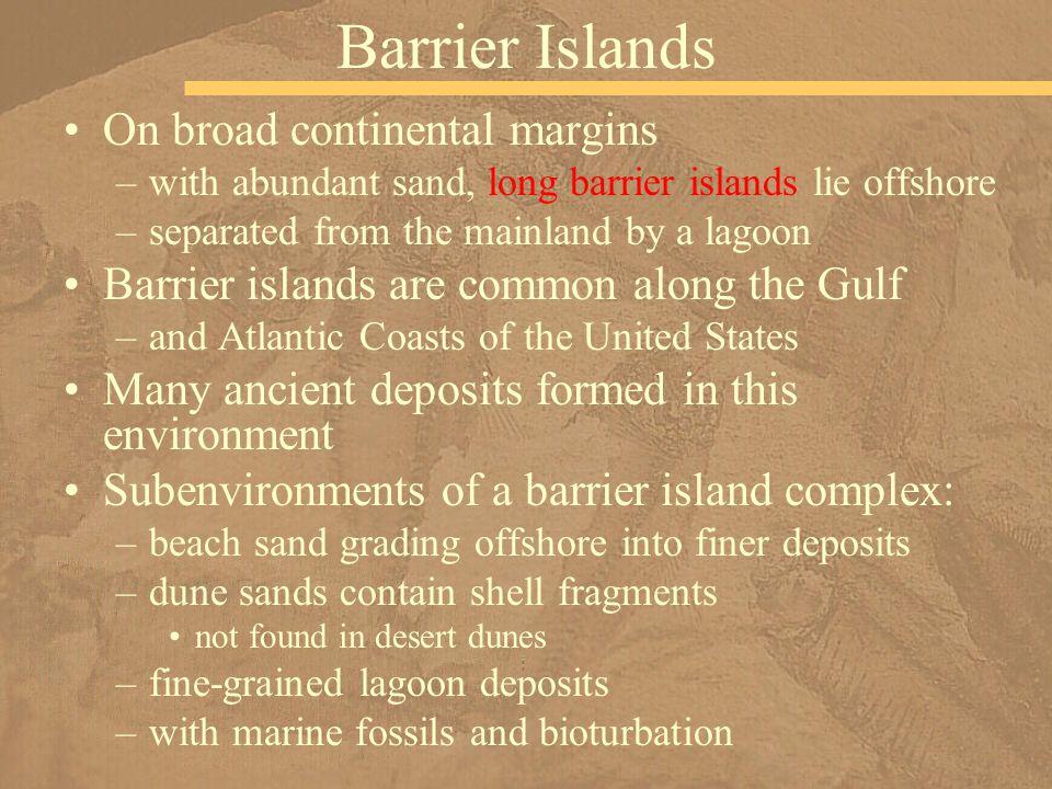 Barrier Islands On broad continental margins