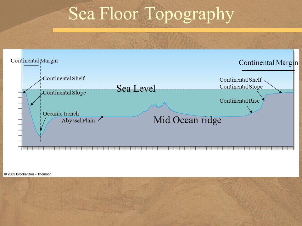 Sea Floor Topography Sea Level Mid Ocean ridge Continental Margin