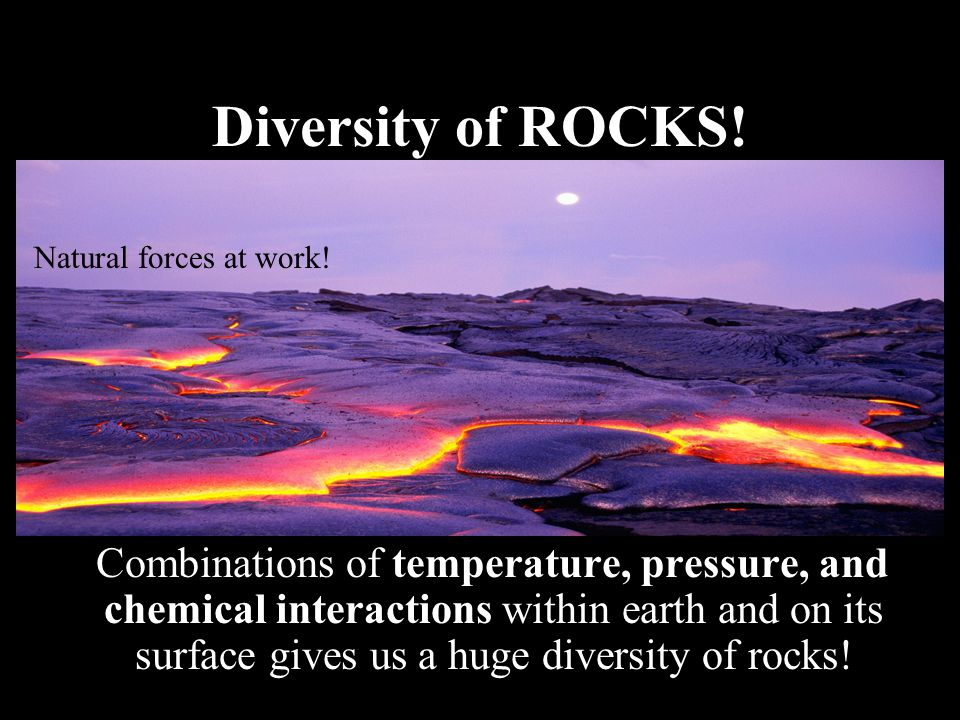 Diversity of ROCKS! Natural forces at work!