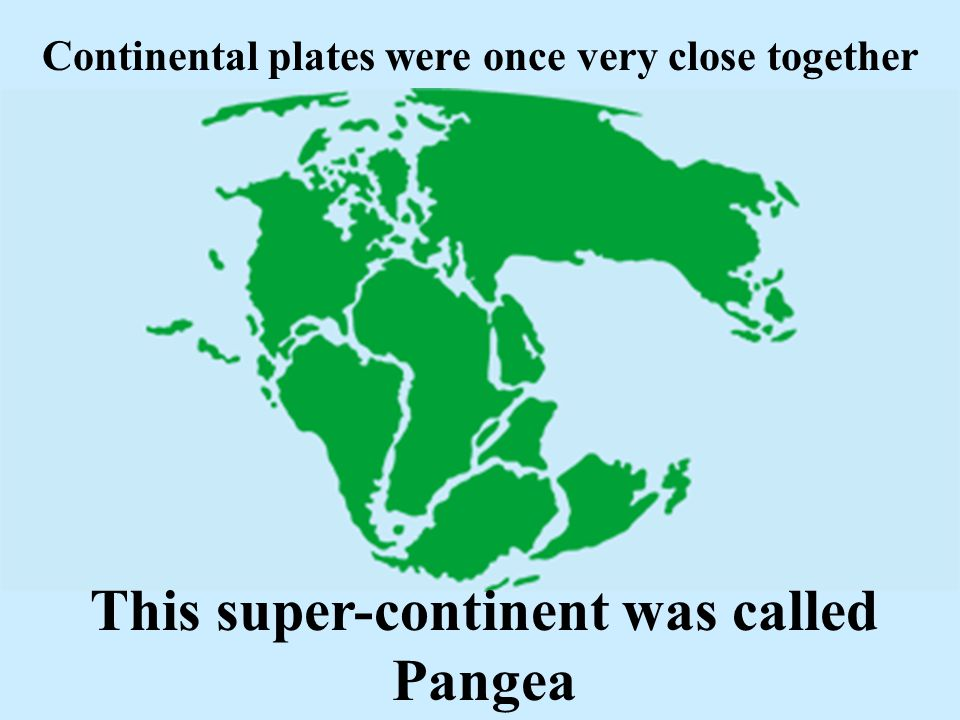 This super-continent was called Pangea