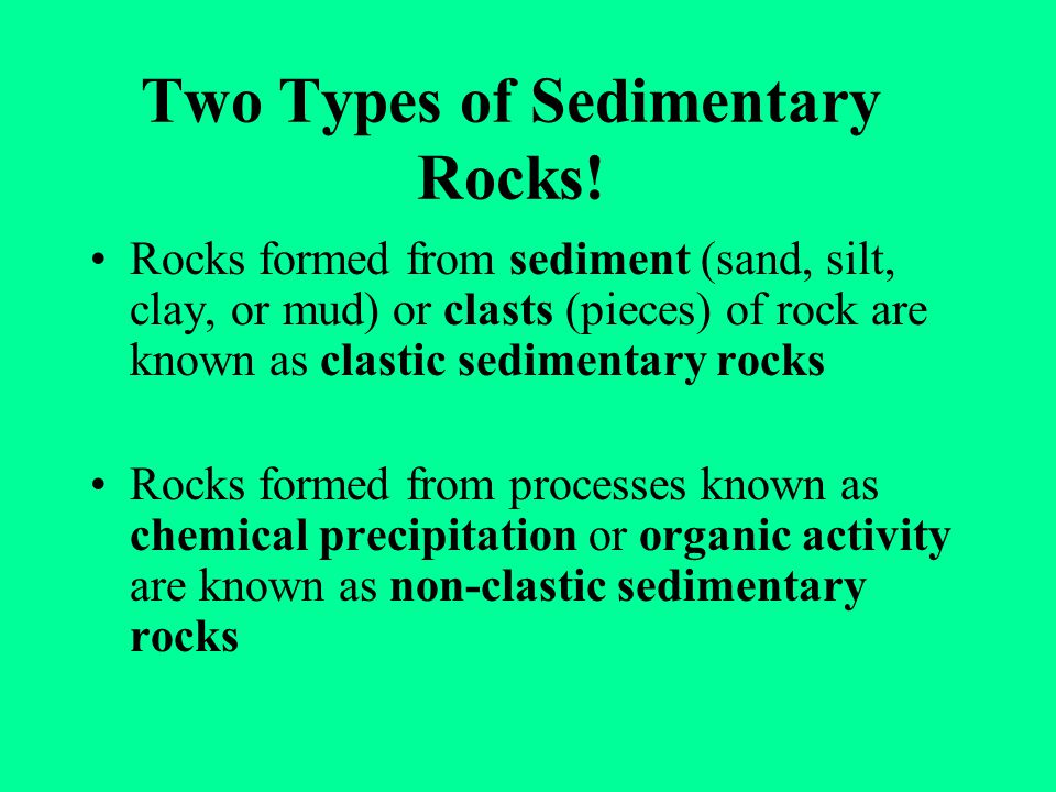 Two Types of Sedimentary Rocks!