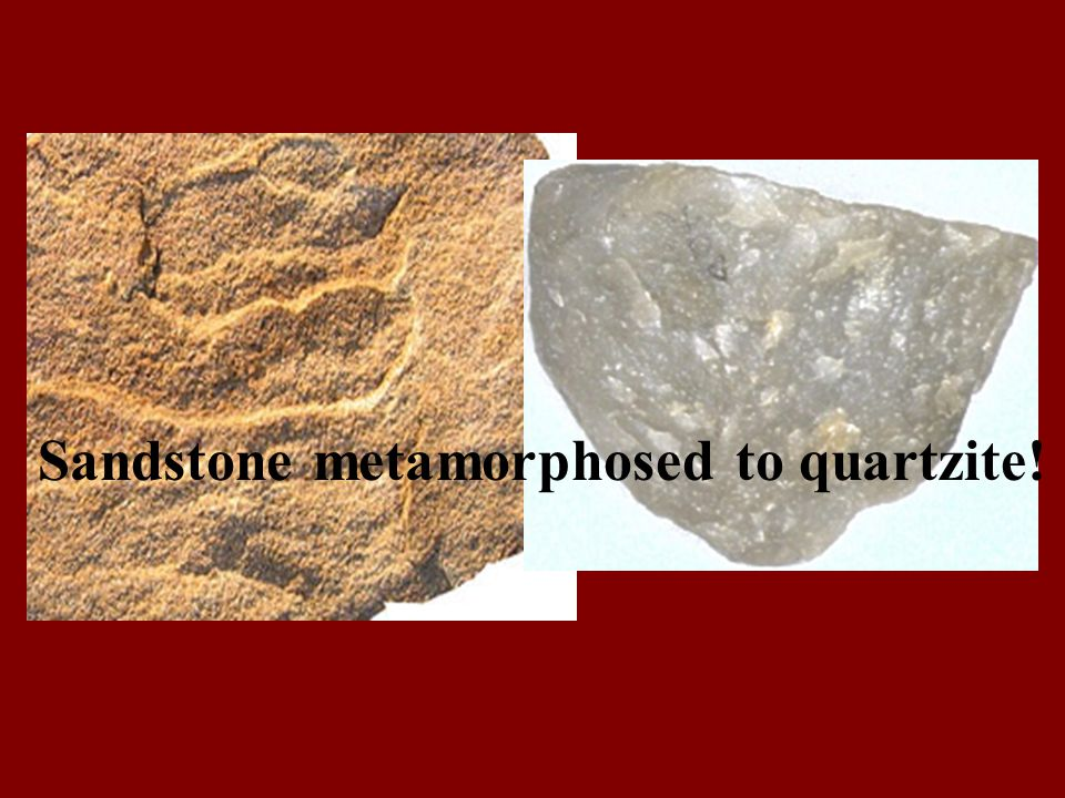 Sandstone metamorphosed to quartzite!