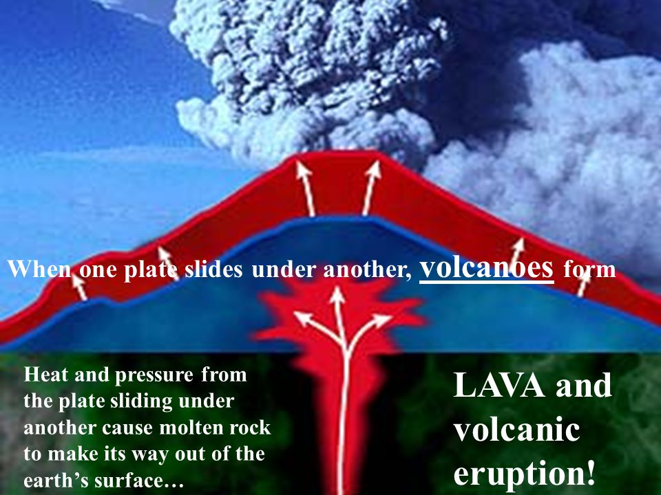 LAVA and volcanic eruption!