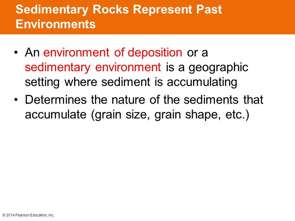 Sedimentary Rocks Represent Past Environments