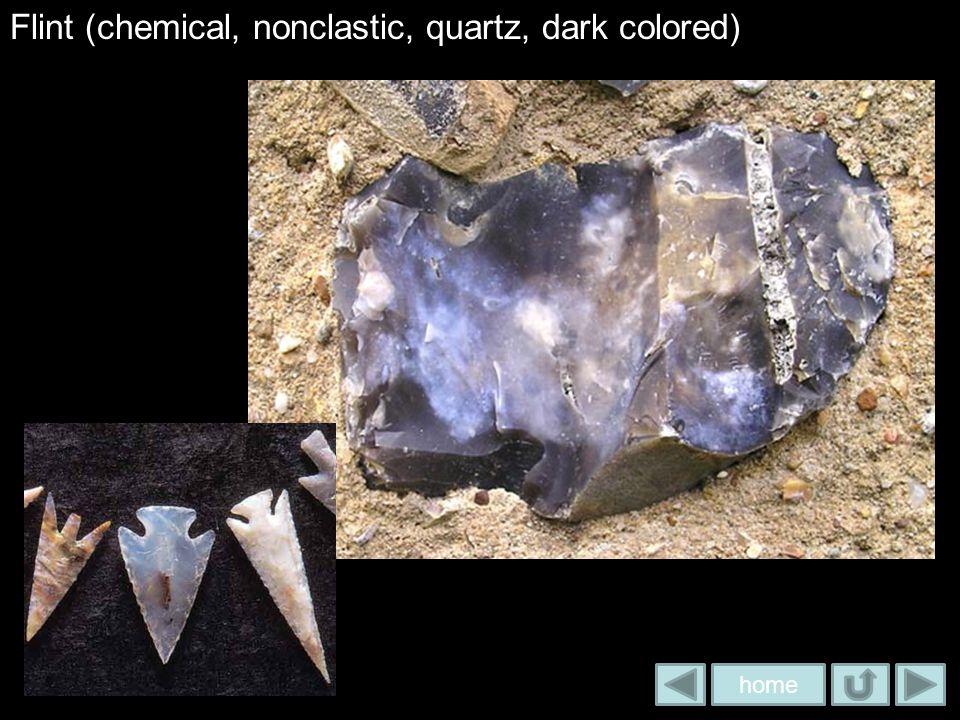 Flint (chemical, nonclastic, quartz, dark colored)