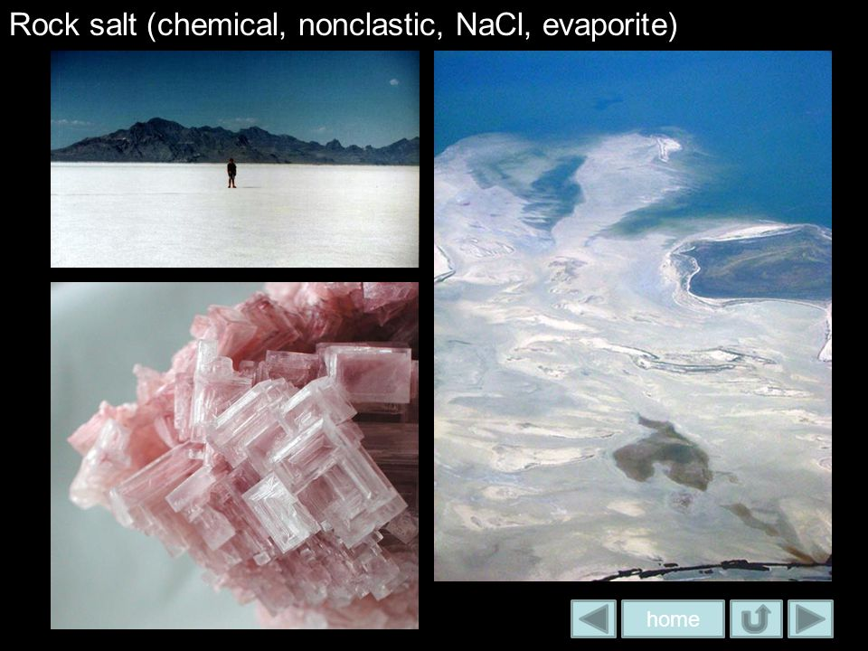 Rock salt (chemical, nonclastic, NaCl, evaporite)