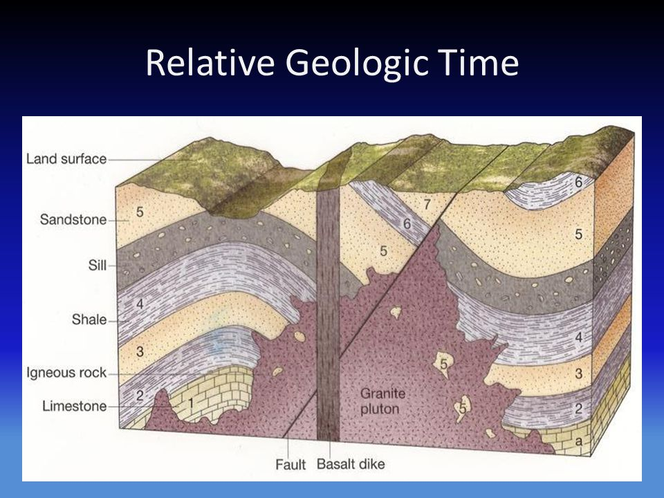 What is the geologic time scale based on?