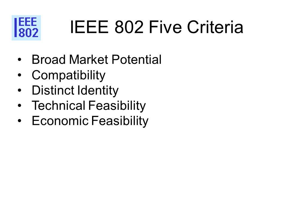IEEE 802 Five Criteria Broad Market Potential Compatibility