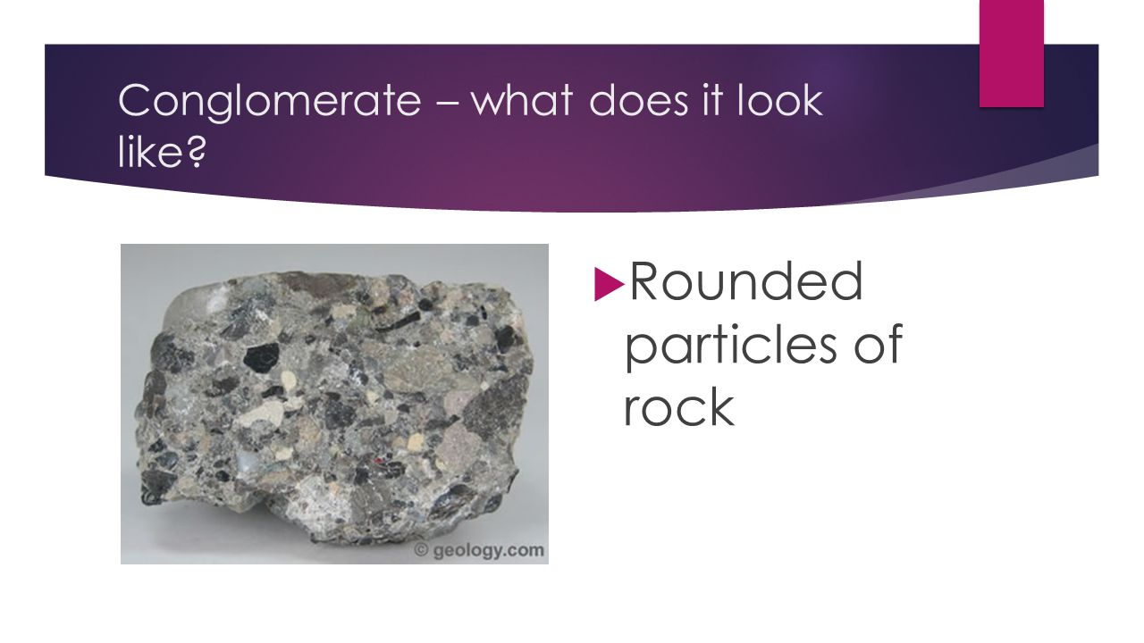Conglomerate – what does it look like