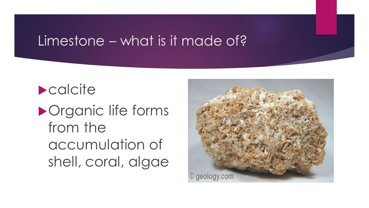 Limestone – what is it made of
